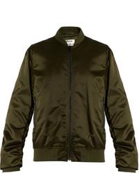 Acne Studios Leia Ruched Sleeve Bomber Jacket