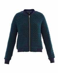 Marc by Marc Jacobs Argyle Quilted Bomber Jacket