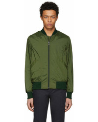 Paul Smith Ps By Green Lightweight Nylon Bomber Jacket