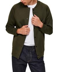 Selected Homme Shayne Cotton Blend Bomber Jacket