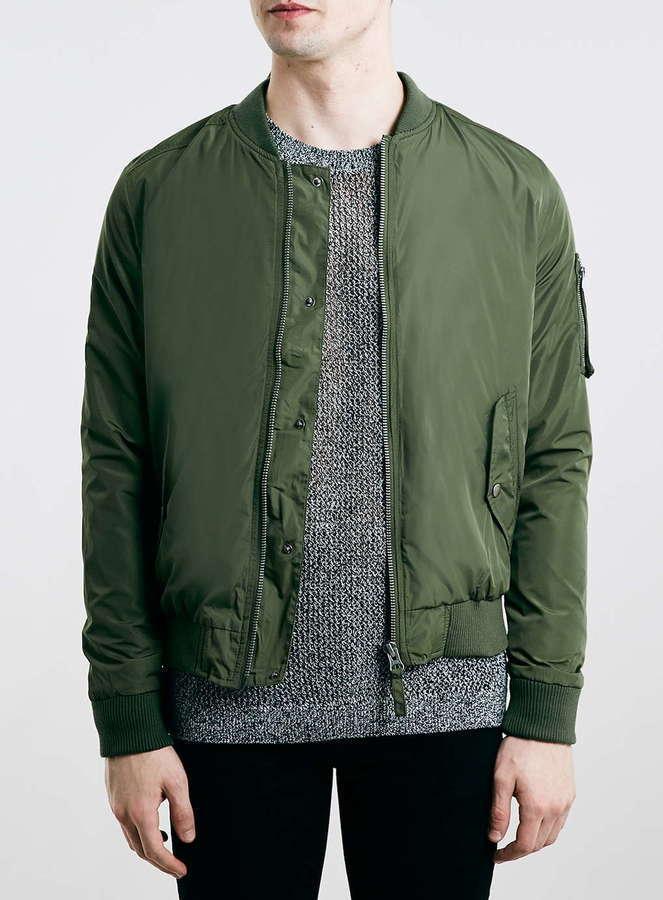 Topman Khaki Bomber Jacket | Where to buy & how to wear