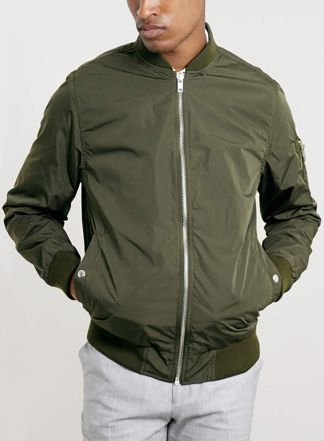 Topman Khaki Lightweight Ma1 Bomber Jacket | Where to buy & how to ...