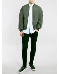 Topman Khaki Oversize Bomber Jacket | Where to buy & how to wear