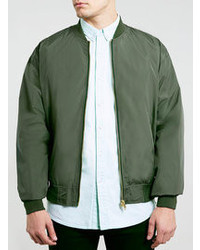 Men's Dark Green Bomber Jackets by Topman | Men's Fashion