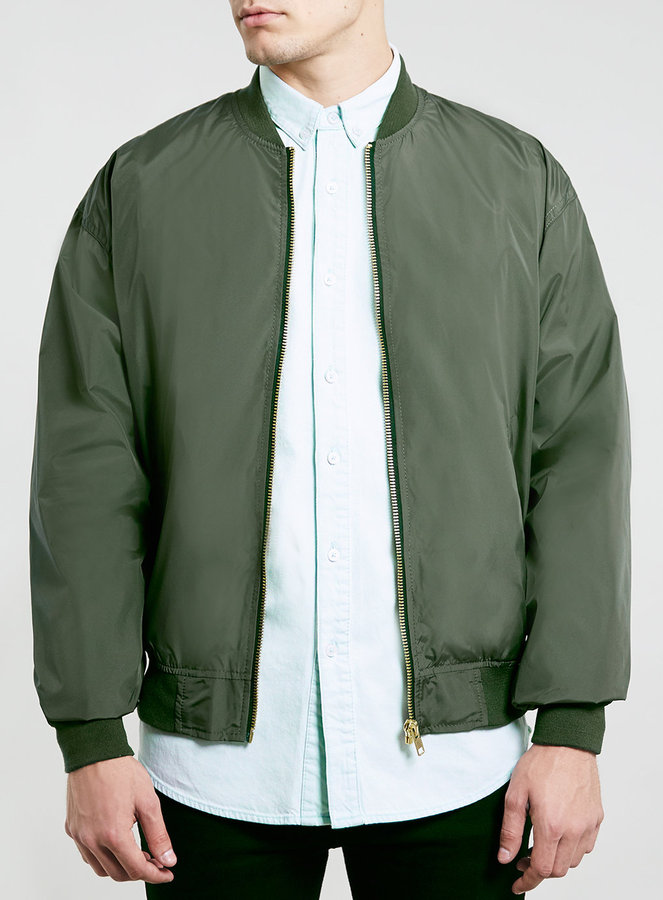 Topman Khaki Oversize Bomber Jacket Where To Buy How To Wear