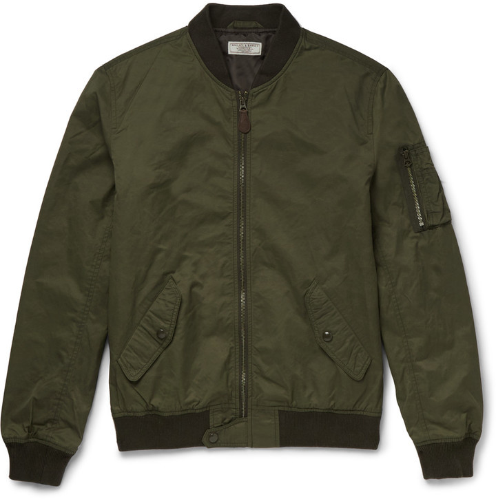 5f6658ac1 $200, J.Crew Wallace Barnes A2 Twill Bomber Jacket