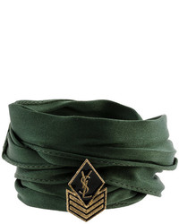 Saint Laurent Army Braided Wrap Bracelet