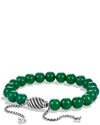 David Yurman Spiritual Beads Bracelet With Green Onyx