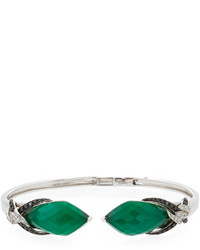 Stephen Webster Faceted Quartz Green Agate Open Bangle