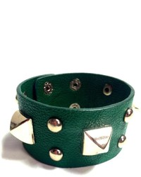 Glam Squad Shop Green Studded Cuff