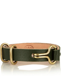 Giles & Brother Leather And Brass Bracelet
