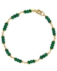 Macy's 14k Gold Bracelet Green Onyx Bracelet