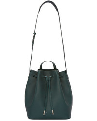 Dark Green Bucket Bag