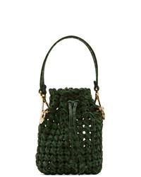 Fendi Green And Brown Mini Braided Mon Tresor Bag