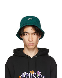 Stussy Green Stock Bucket Hat
