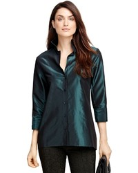 Brooks brothers silk taffeta blouse medium 395148