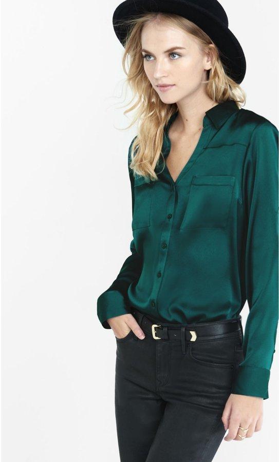 c75e07ef18a1d Original Fit Silky Crepe Portofino Shirt