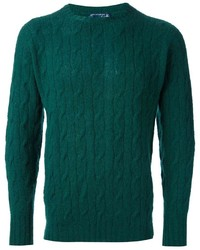 Dark Green Cable Sweater