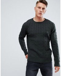 French Connection 100% Cotton Logo Cable Knit Jumper