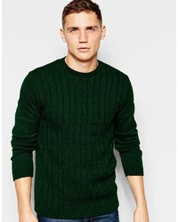 2980c2f45d9 Men's Dark Green Cable Sweaters by Asos | Men's Fashion | Lookastic.com
