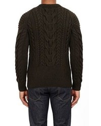 Ralph Lauren Black Label Chunky Cable Knit Sweater Green | Where ...