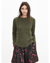 Dark Green Cable Sweaters for Women | Women's Fashion