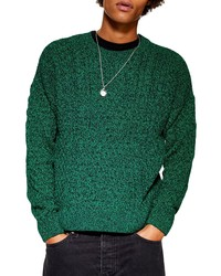 Topman Marl Cable Knit Sweater