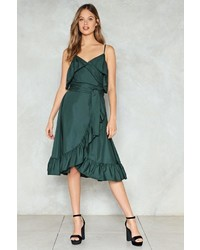 Nasty Gal Nastygal Wrap Up Ruffle Dress