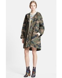 Valentino Peace Embroidered Camo Print Anorak