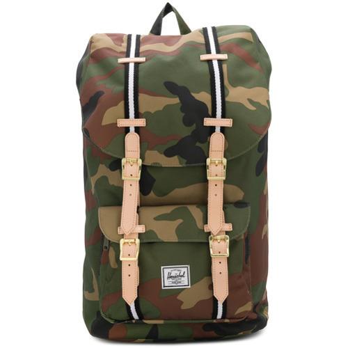 b967e8f1f6c Dark Green Camouflage Backpacks Herschel Supply Co. Little America Backpack  ...