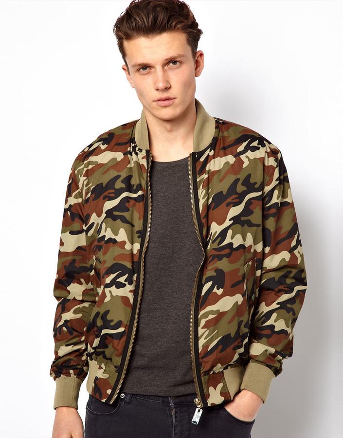 Camouflage bomber jacket
