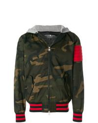 Camouflage hooded bomber jacket medium 7444933