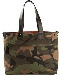 Valentino garavani reversible camouflage tote medium 98901