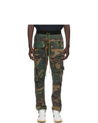 Rhude Green Camo Rifle Cargo Pants