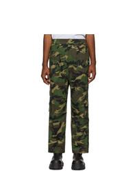 Juun.J Khaki Camouflage Cargo Pants