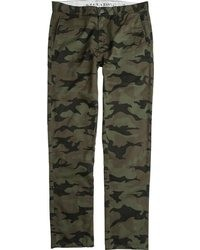 Dark Green Camouflage Chinos