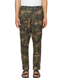 Military green silk camo trousers medium 237911