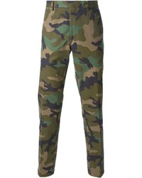 Valentino Camouflage Straight Leg Trousers