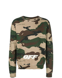 Off-White Camouflage Print Sweater