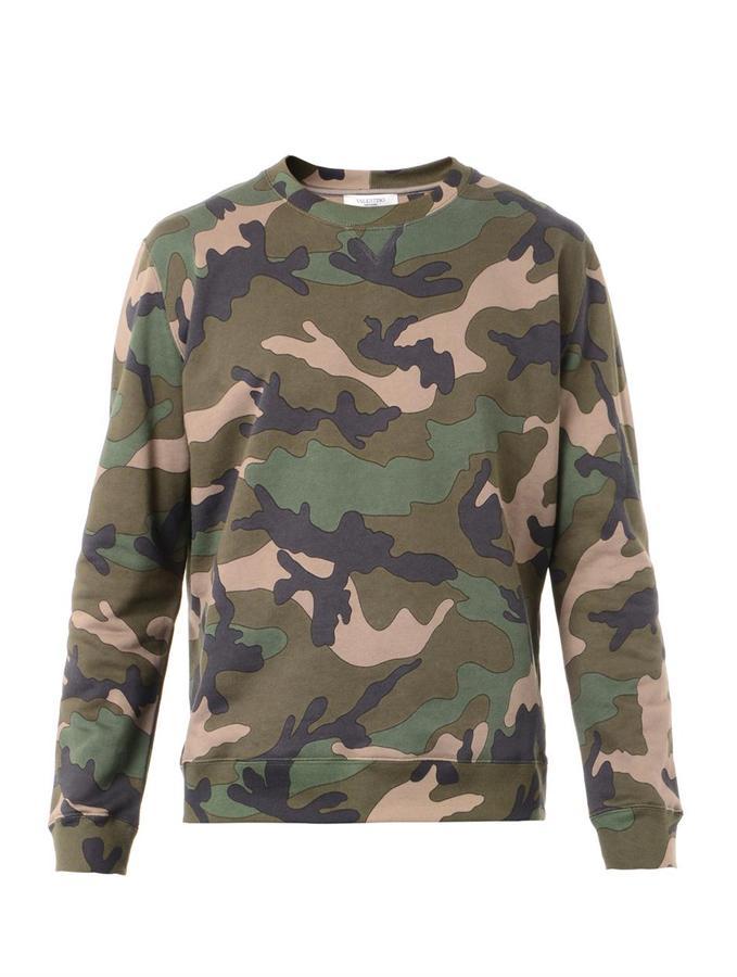 Sweatshirt Camouflage Matchesfashion 850 Print Valentino com qS4wUF