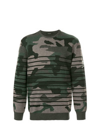 Loveless Camouflage Striped Sweater