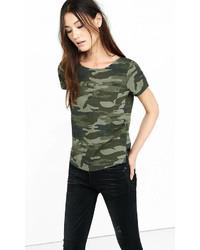 Camo print hi lo pocket t shirt medium 543632