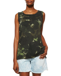 Current/Elliott The Muscle Tee Army Green Watercolor