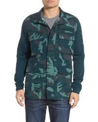 Dark Green Camouflage Field Jacket