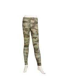 Dark Green Camouflage Leggings