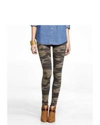 Express Camouflage Sexy Stretch Legging Green Large
