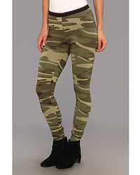 Alternative Printed Skinny Legging Casual Pants