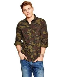 8cbfd9368b Dark Green Camouflage Long Sleeve Shirts for Men