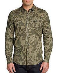 Antony Morato Slim Fit Printed Woven Cotton Shirt