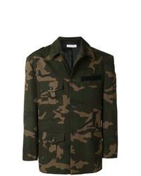 Dark Green Camouflage Military Jacket